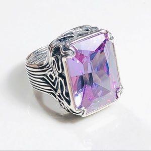 R2001 Size 7 SILPADA Lavender Fields CZ Ring